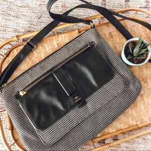 Fossil Black and White Crossbody
